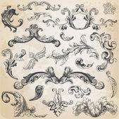 Vektoru set: kaligrafické prvky a stránky dekorace, vi — Stock vektor