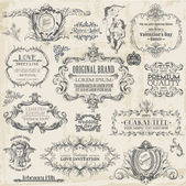 Wektorowa zestaw: elementy projektu kaligraficzne i dekoracji strony, vi — Wektor stockowy