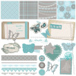 Royalty-Free Stock Vektorfiler: Scrapbook Design Elements - Vintage Lace Butterflies - in vector