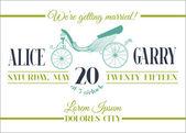 Düğün davetiye kartı - taşıma tema - vektör — Stok Vektör