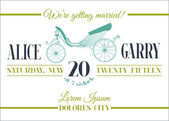 Wedding Invitation Card - Carriage Theme - in vector — Vector de stock