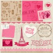 Scrapbook Design Elements - Love Set - for cards, invitation, gr — Stock Vector #16092891