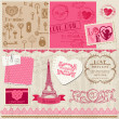 Stock Vector: Scrapbook Design Elements - Love Set - for cards, invitation, gr