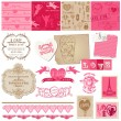 Royalty-Free Stock Vectorafbeeldingen: Scrapbook Design Elements - Love Set - for cards, invitation, gr