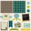 Stock Vector: Scrapbook Design Elements - Vintage Travel Set- in vector