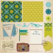 Scrapbook Design Elements - Vintage Travel Set- in vector - Imagen vectorial