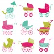 Baby Carriage Background - for your design and scrapbook in vect — Stock Vector