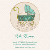 Baby Shower or Arrival Card with Place for your text in vector — Stock Vector