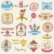 Etichette d'epoca pasticceria e dessert - per design e scrapbook — Vettoriale Stock