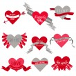 Valentine's Day Heart Labels — Vector de stock #18735539