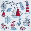Nautical Sea Design Elements - for scrapbook and design in vecto — Stock Vector #18735621