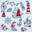 Nautical Sea Design Elements - for scrapbook and design in vecto - Stock Vector