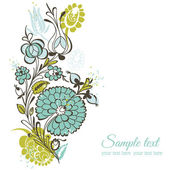 Beautiful Floral Background - retro flowers - for wedding, scrap — Stok Vektör