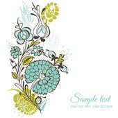 Vacker blommig bakgrund - retro blommor - för bröllop, skrot — Stockvektor