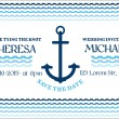 Stock Vector: Wedding Marine Invitation Card - in vector