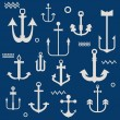 Various Anchor Collection - for your logo, design, scrapbook - i — Stock Vector #19402553