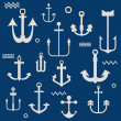 Various Anchor Collection - for your logo, design, scrapbook - i - Stock Vector