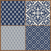 Seamless backgrounds Collection - Vintage Tile - for design and — Stock Vector