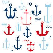Diverse collectie - voor uw logo, ontwerp, Plakboek - anker ik — Stockvector