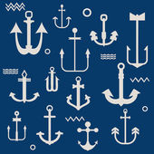 Various Anchor Collection - for your logo, design, scrapbook - i — Stock Vector