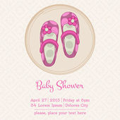 Baby Shower or Arrival Card with Place for your text - in vector — Stock Vector