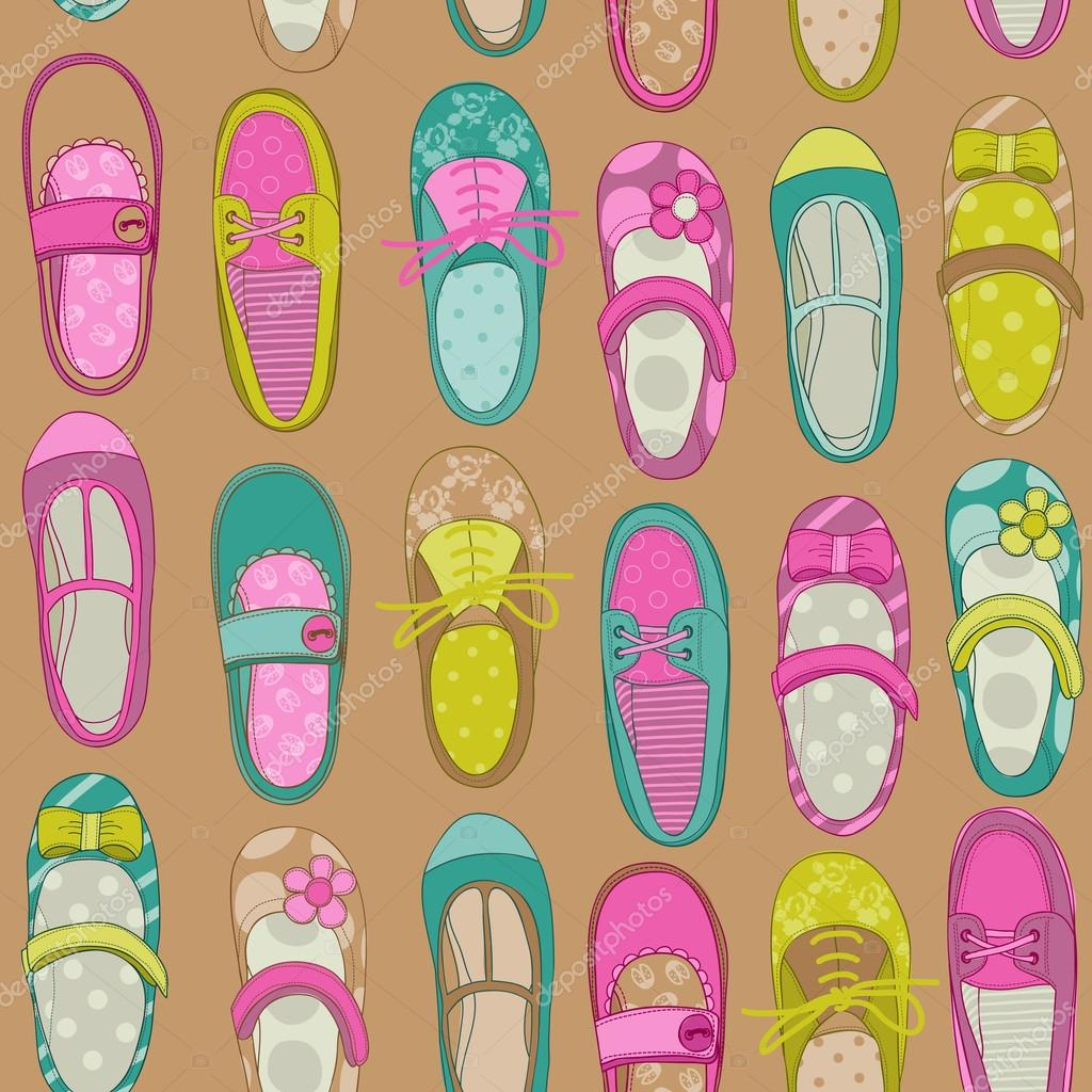 Baby Girl Scrapbook Backgrounds Baby Girl Shoes Background