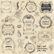 Vector Set: Calligraphic Design Elements and Page Decoration - Image vectorielle