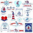 Nautical Sea Calligraphic Elements - for scrapbook and design in — Stock Vector #23582927