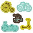 Set of Baby Bike Stickers - for design and scrapbook - in vector — Stock Vector
