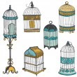 Royalty-Free Stock Vector Image: Birdcages Collection - for design or scrapbook - in vector