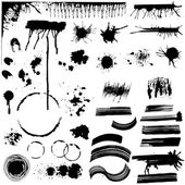 Set of Various Grunge Stains - for design or scrapbook - in vect — Stock Vector
