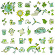 Ecology and recycle icons - hand drawn vector set — Stock Vector #25952535