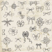 Set of gift Bows with Ribbons - for design and scrapbook — 图库矢量图片
