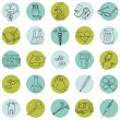 Medical Icons - hand drawn - in vector — Stock Vector