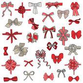 礼品蝴蝶结丝带-设计和剪贴簿一套 — 图库矢量图片