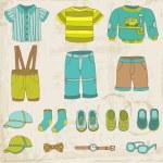 Baby Boy Set - for design and scrapbook - in vector — Stock Vector #28128789