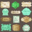 Vintage Paper Wedding Frame collection - various tags and frames — ベクター素材ストック