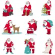 Santa Claus Christmas set - for design and scrapbook - in vector — Imagen vectorial