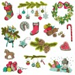 Set of Christmas Elements - for design and scrapbook - in vector — Stock Vector #31479379