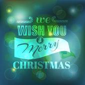 Weihnachtskarte - kalligraphische elemente — Stockvektor