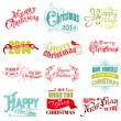 Vector Set: Christmas Calligraphic Design Elements and Page Deco — Vettoriali Stock