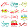 Stock Vector: Vector Set: Christmas Calligraphic Design Elements and Page Deco