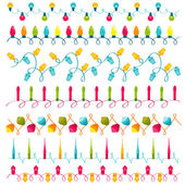 Christmas light bulbs Set - for design and scrapbook - in vector — Stock Vector