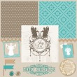 Scrapbook Design Element - Vintage Christmas Angel Set  — Imagen vectorial