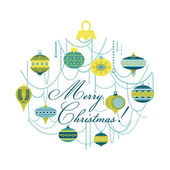Vintage Christmas Card with - for design and scrapbook — 图库矢量图片