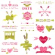 Valentine and Wedding Graphic Set - Arrows, Feathers, Heart — Stock Vector #37759957