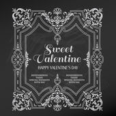 Vintage Valentine's Day Card Design - love, wedding - in vector — Vector de stock