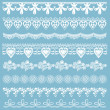 Set of lace ribbons - for design and scrapbook - in vector — Stock Vector #39122559