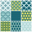 Seamless backgrounds Collection - Vintage Tile — Stock Vector