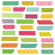 Set of Ribbons and Stickers - for design and scrapbook — Stock Vector #41445483